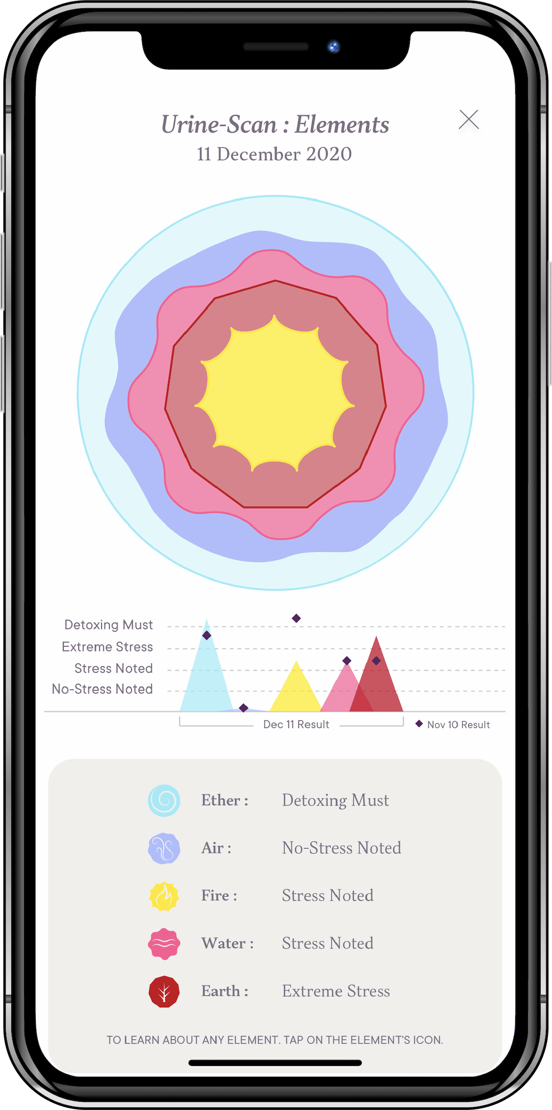 Fasting Culture App - Urine Scan: Elements